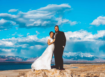 March Antelope Island Bride & Groom Session