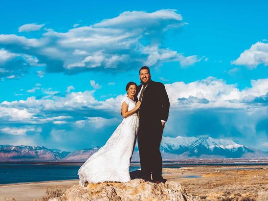 Spring Antelope Island Bride & Groom Session with Jess & Austin