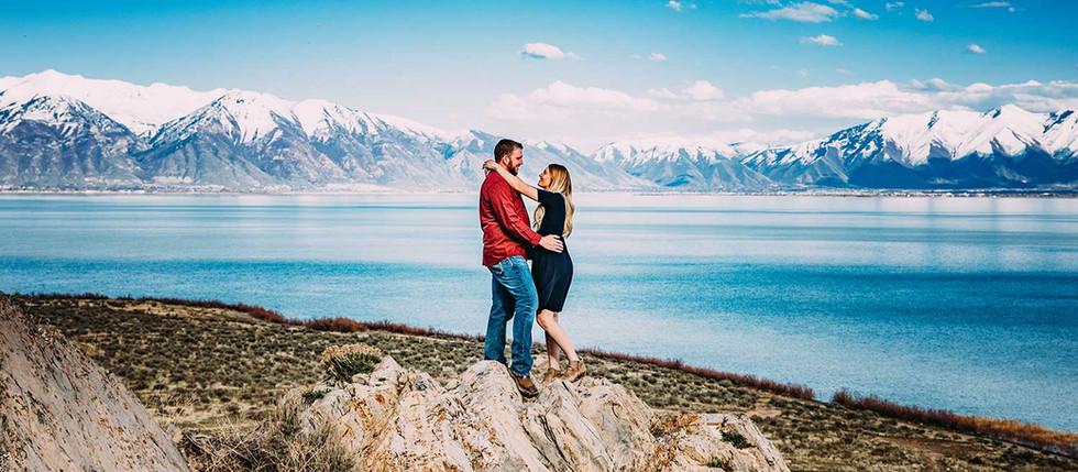 Spring Utah Lake Engagement with Carly & Chase