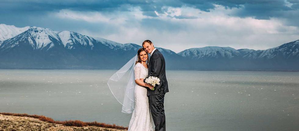 Spring Utah Lake Bride & Groom Session with Melanie & Derrik