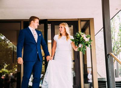 Summer Salt Lake City Temple Wedding