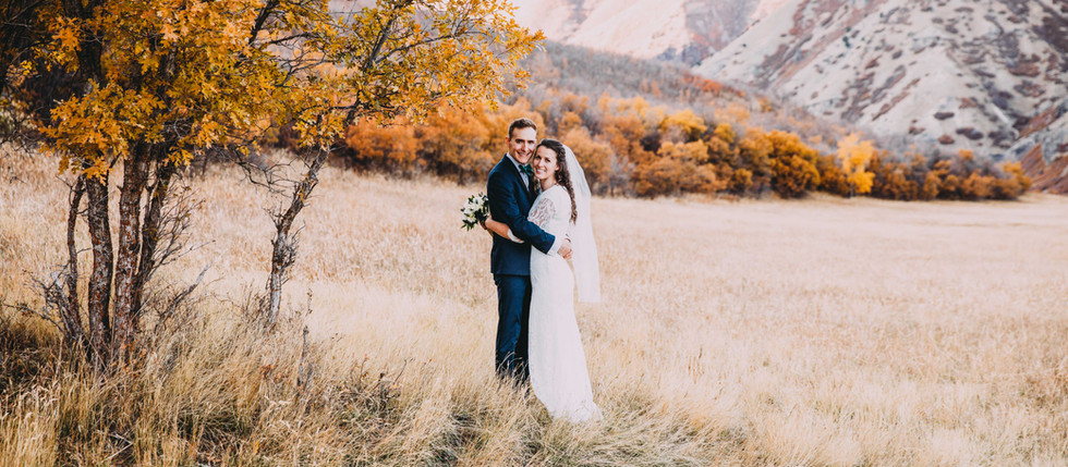 Fall Provo Canyon Bride & Groom Session with Julia & Derek