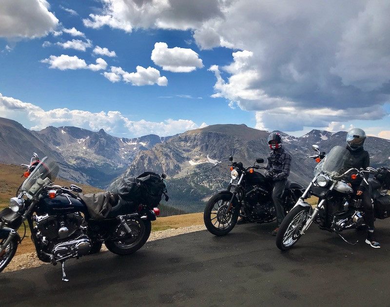 Motorcyclists Rocky Mountain National Pa