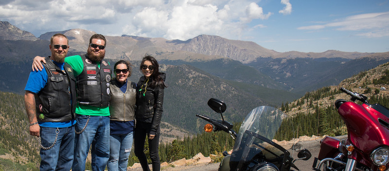 Motorcycle Riders in Rocky Mountain Nati