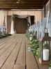 Roswell Mill Club Wedding w Ceremony Arch & Greenery