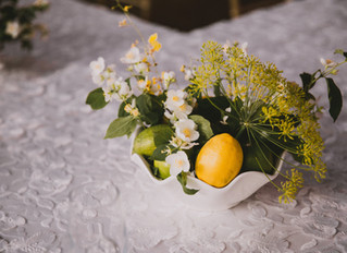 Summer Garden Wedding, Italian Intimate Dinner Party, Romantic Garden Centerpieces
