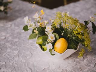 Summer Garden Wedding, Italian Intimate Dinner Party, Romantic Garden Centerpieces