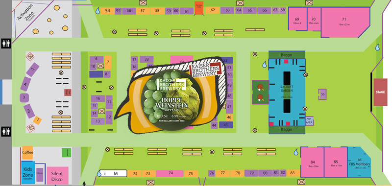 Dunedin Craft Beer Exhibitors Map