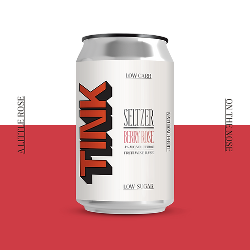 TINK Seltzer - Berry Rose 12 Pack