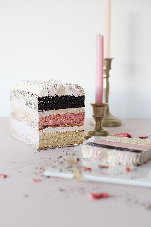 Palette Cake: Neapolitan