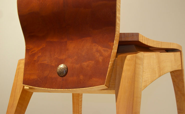 Ergonomically correct designed custome made chair detail