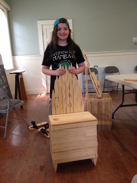 Proud Youth Woodworker