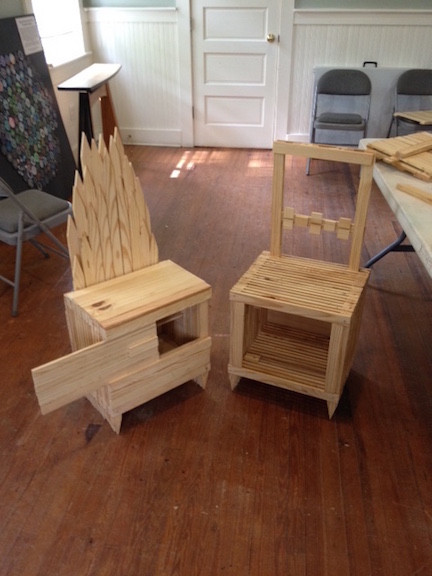 Youth Woodworking Project Chairs