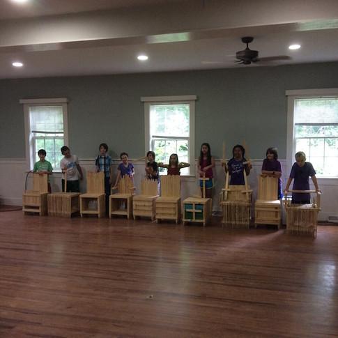 Kids Make Own Chairs