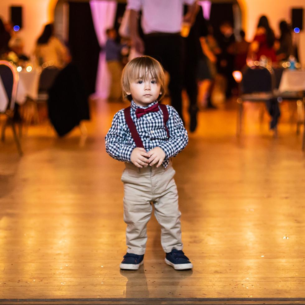 Little Ring Bearer at the Golden Wedding