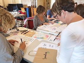 Calligraphy workshop Surrey