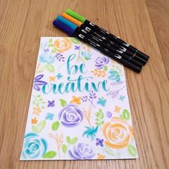 Be creative calligraphy