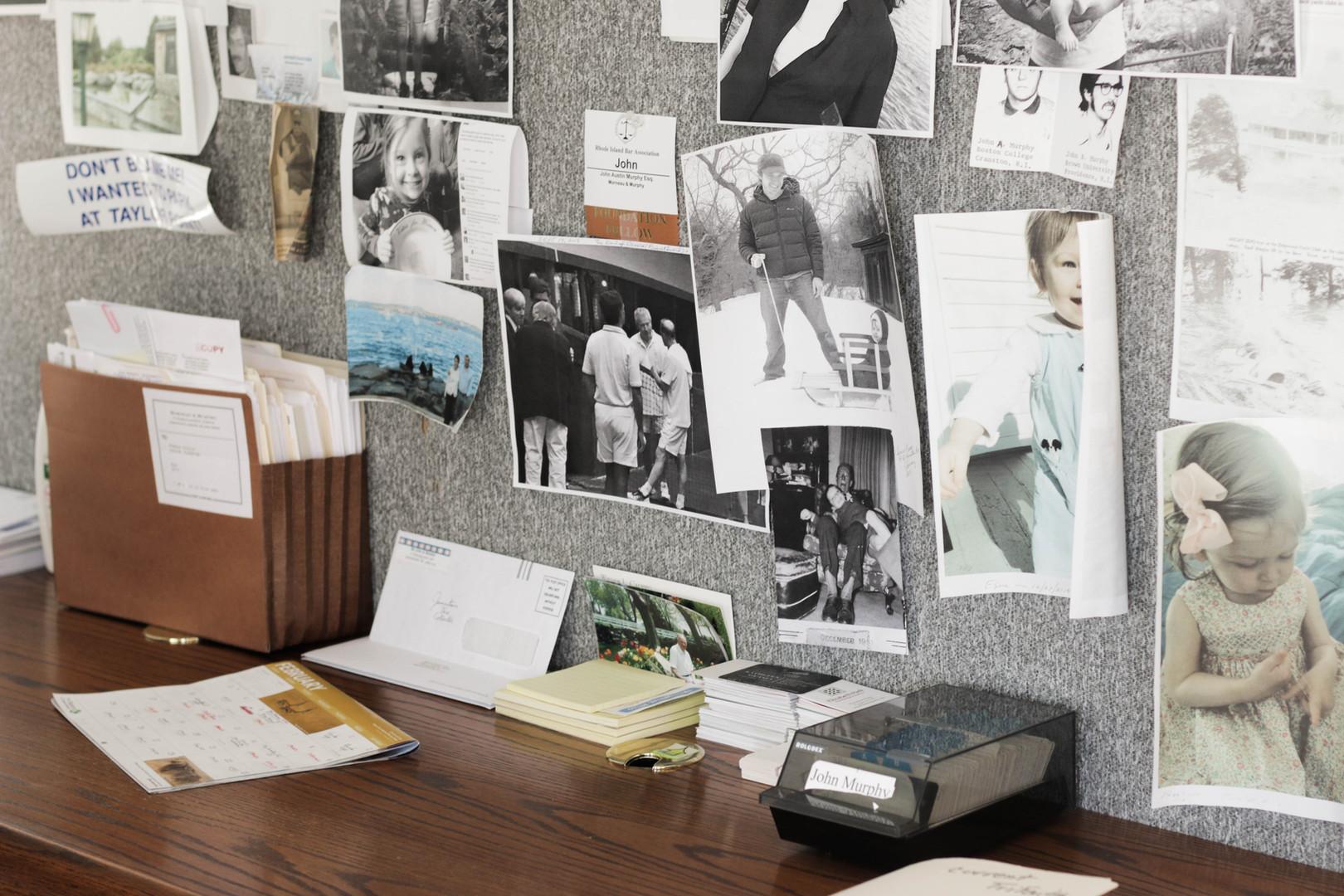 Table Of John A. Murphy at Morneau & Murphy Office, Jamestown Rhode Island