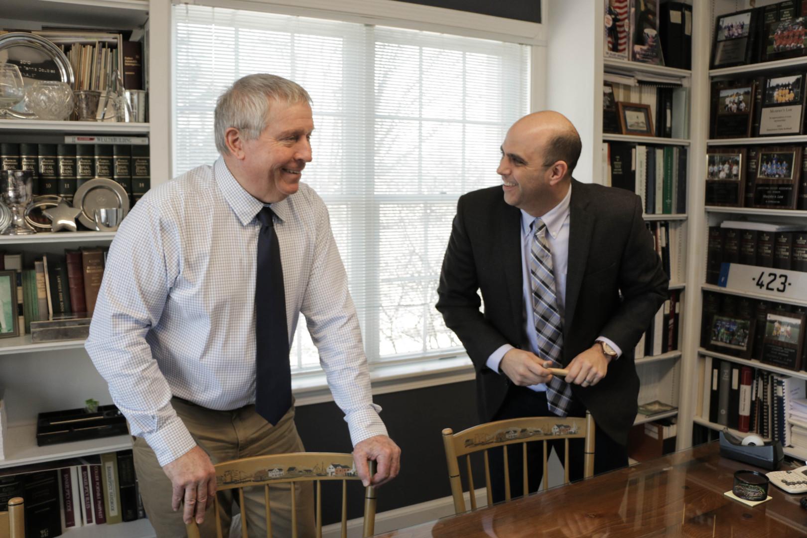 John A. Murphy with Christian S. Infantolino at Morneau & Murphy Office, Jamestown Rhode Island