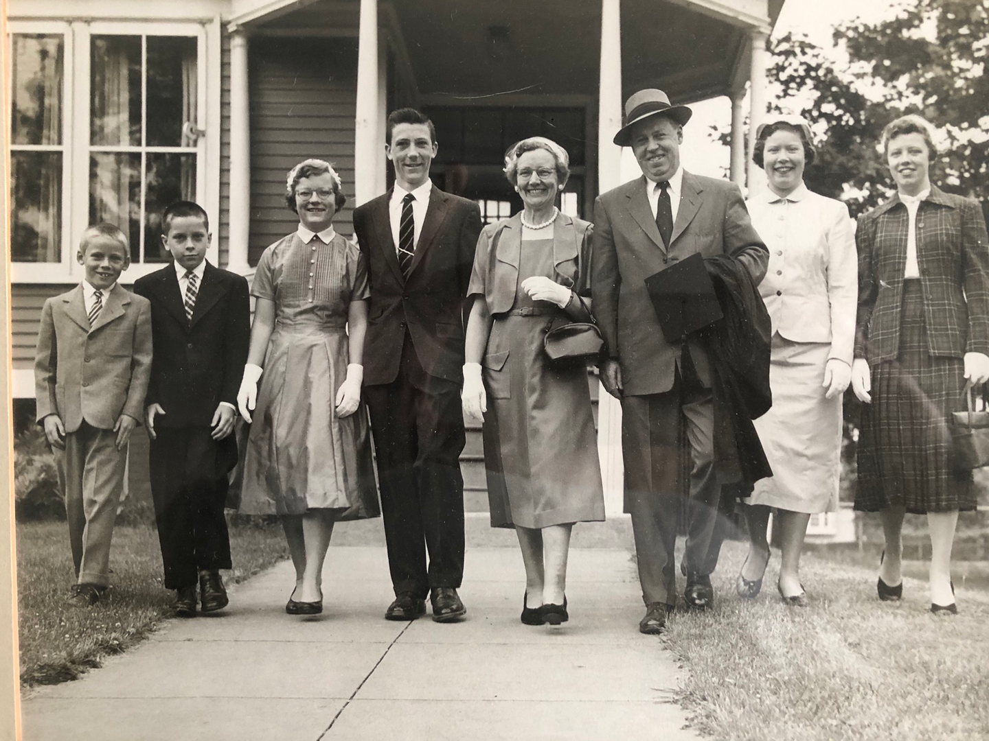 John A. Murphy (second from the left) with his immediate family