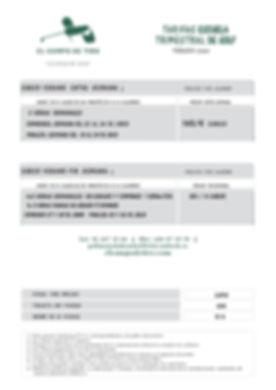 tarifa trimestral verano 2020 10 clases_