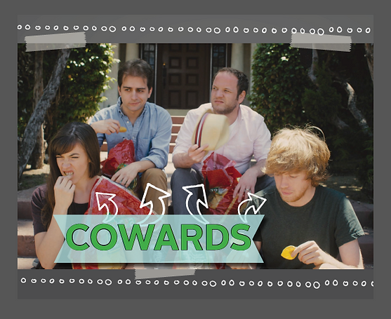 "Back cover from the Promotional Book ""Cowards"""