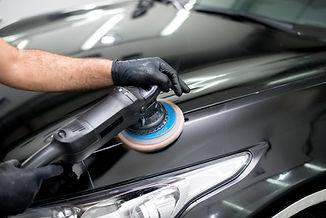 Polished black car polishing machine pol