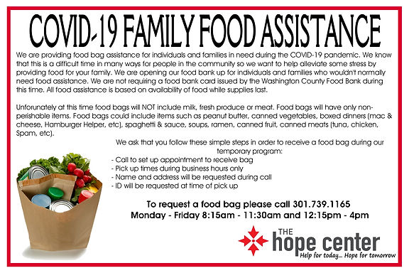 COVID-19 FOOD BAG ASSISTANCE