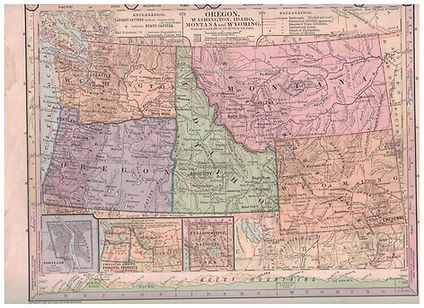 Idaho Wyoming Montana Oregon Washington.