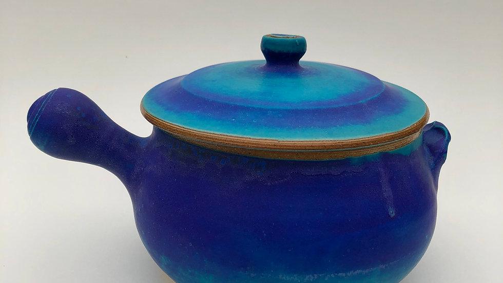 Blue casserole dish