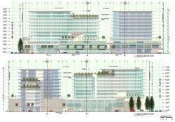 North & South elevations