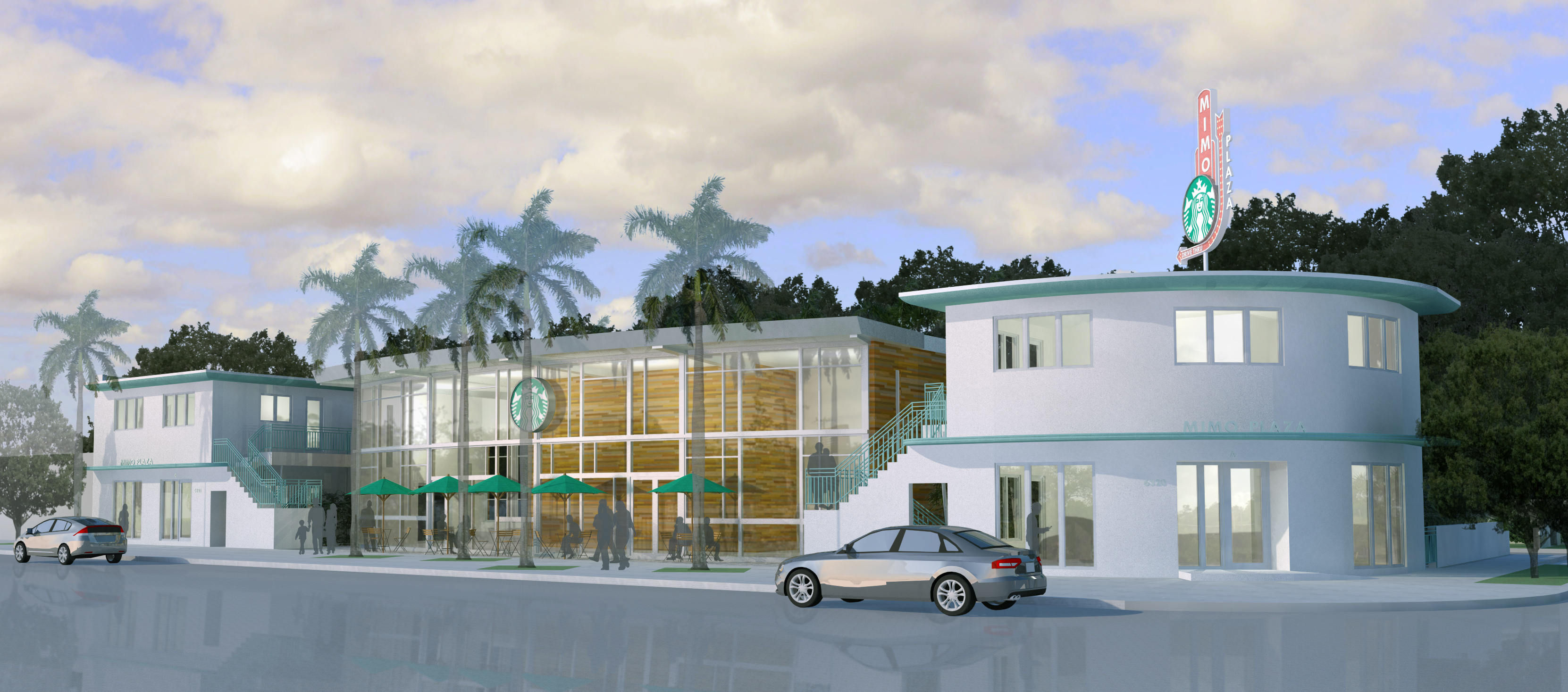 Rendering of building Northeast view