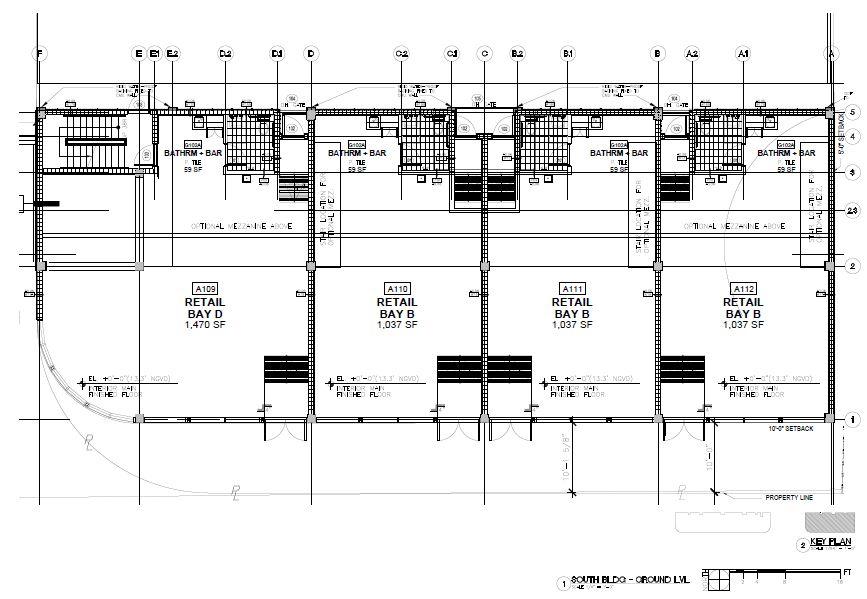 Morningside Centre. South Building Ground Level Plan