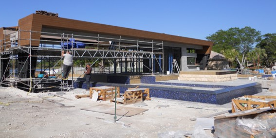 Weston Residence. Pool Cabana construction progress