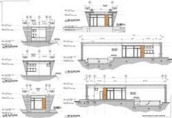 Weston Residence. Pool Cabana Elevations