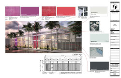 Materials Palette on Facade