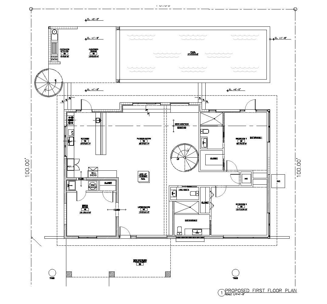 Graber Residence. Proposed ground floor plan