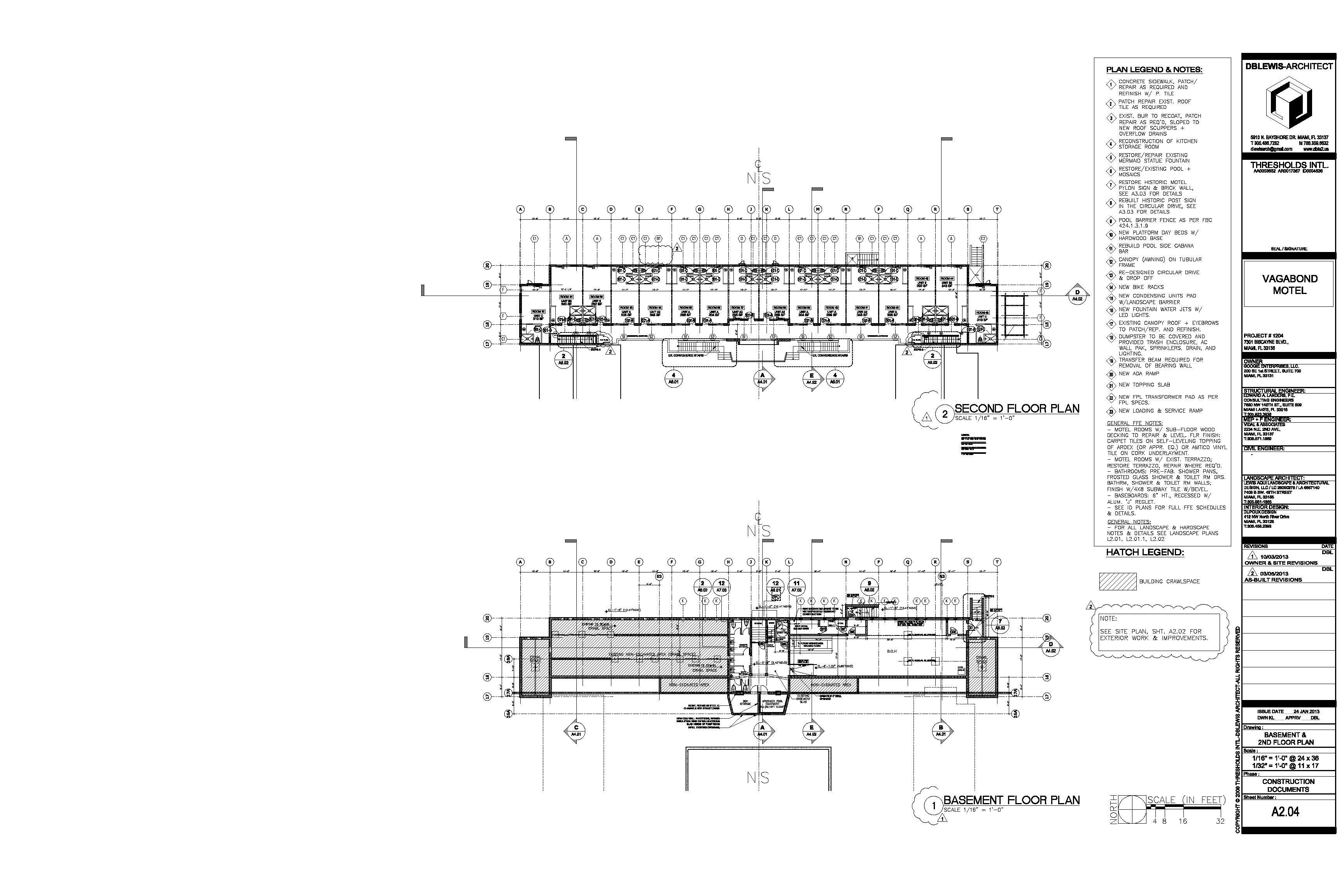 Vagabond. Second floor-basement plan