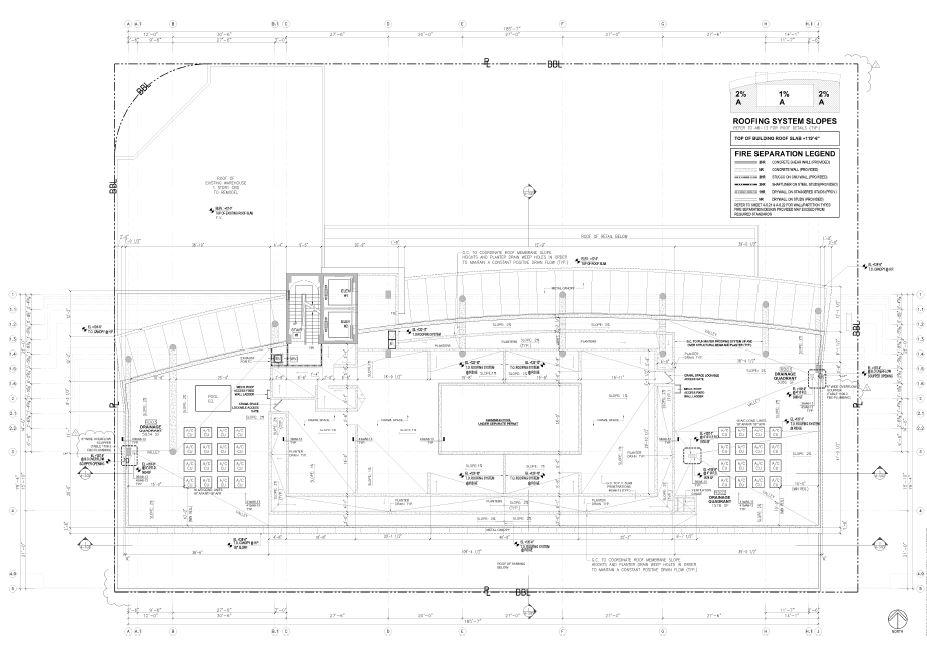 Robinson. Building Roof Plan