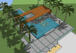 Weston Residence. 3D study Pool Cabana