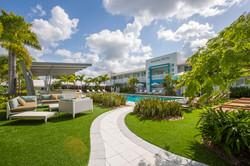 Restored pool area