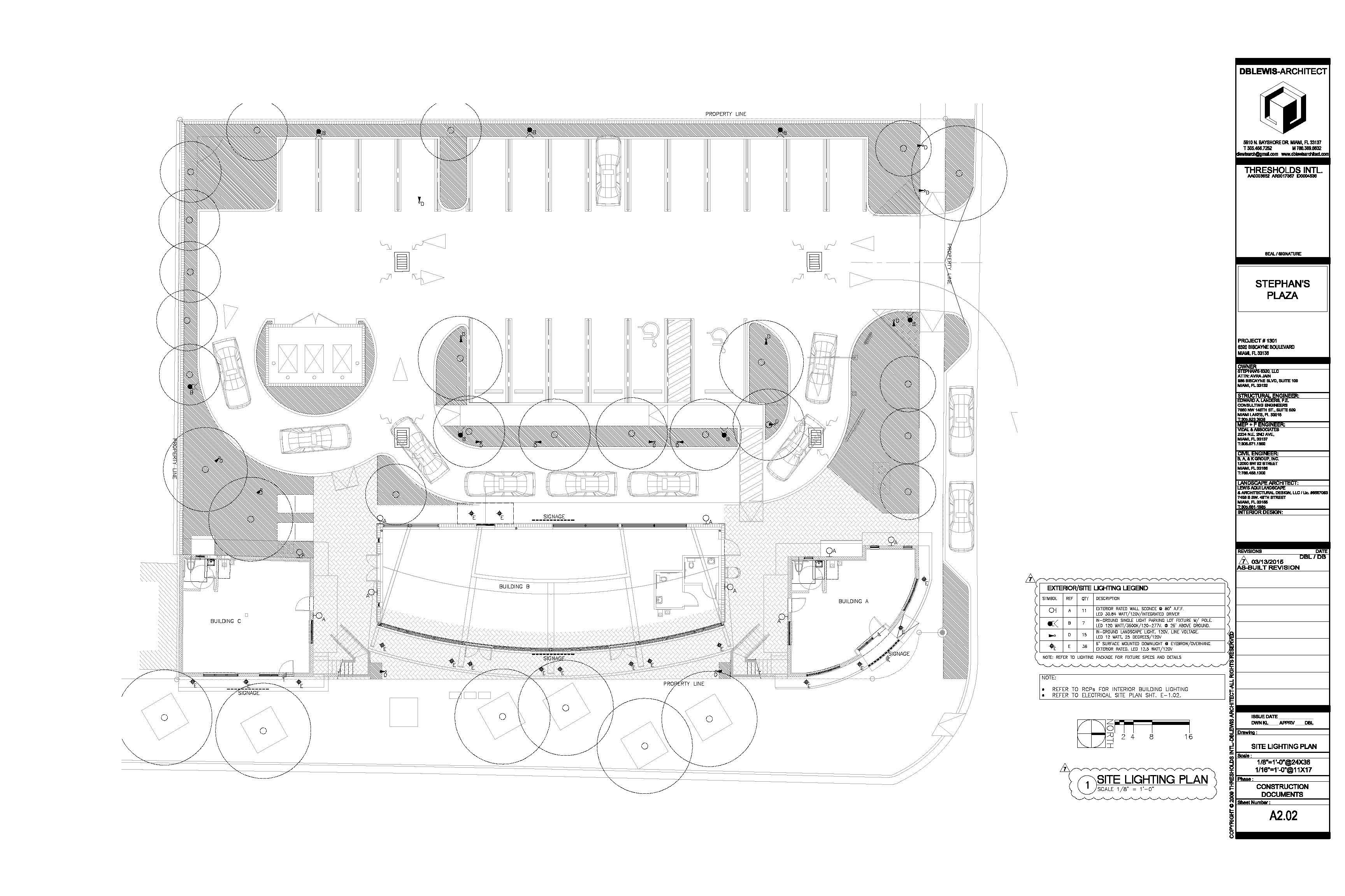Site lighting plan