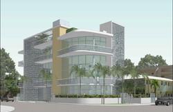 New Lofts. 3D Study View facing Southeast