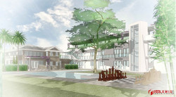 Chateau Bittan. General 3D Study of Pool Area