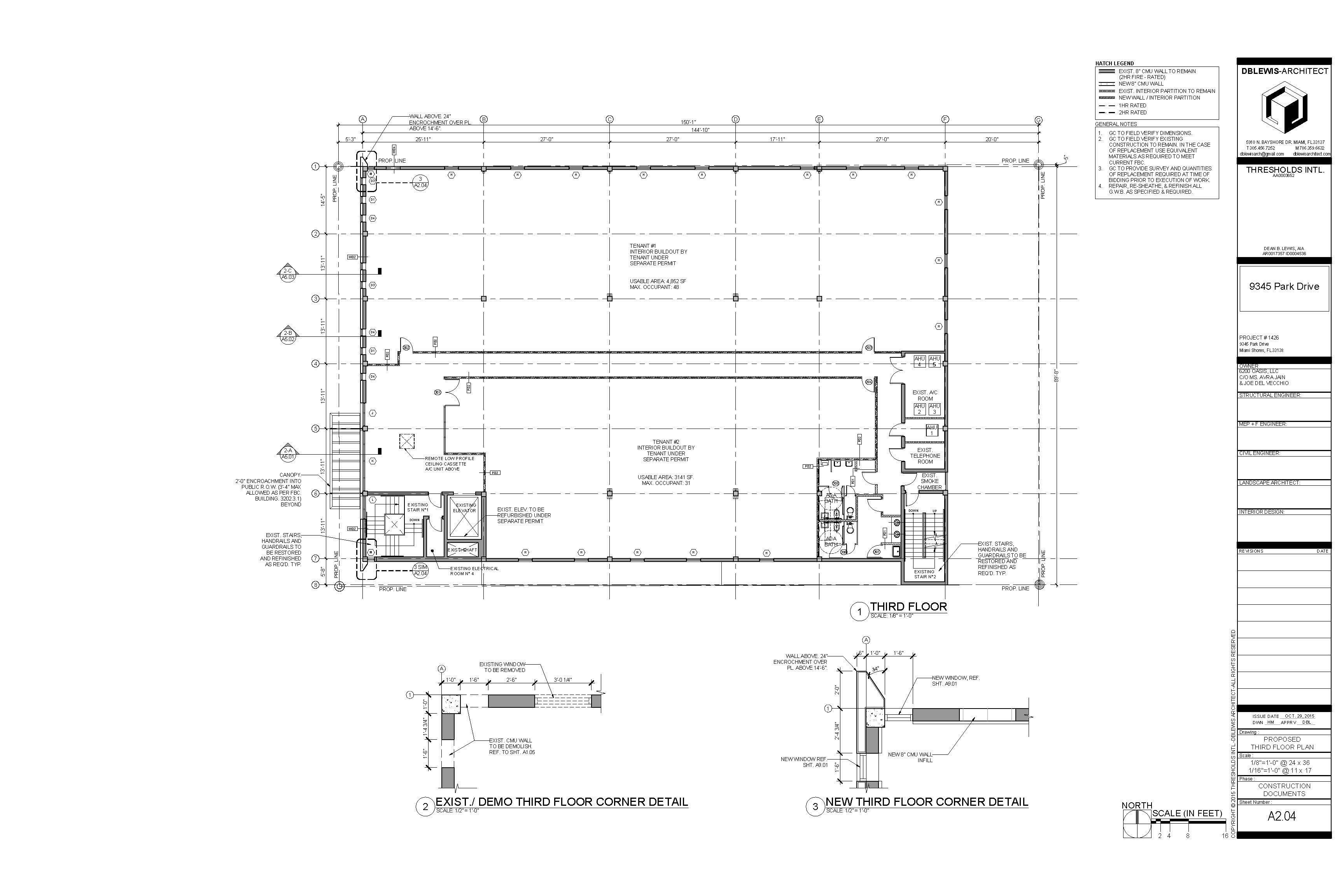 Park Drive. Proposed third floor plan