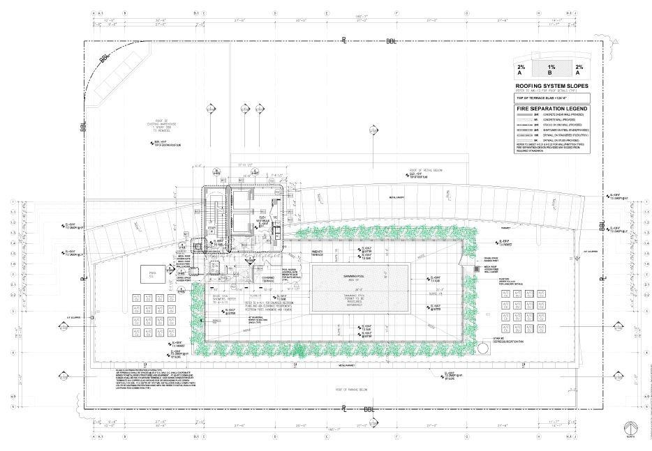 Robinson. Building Amenity Terrace Plan