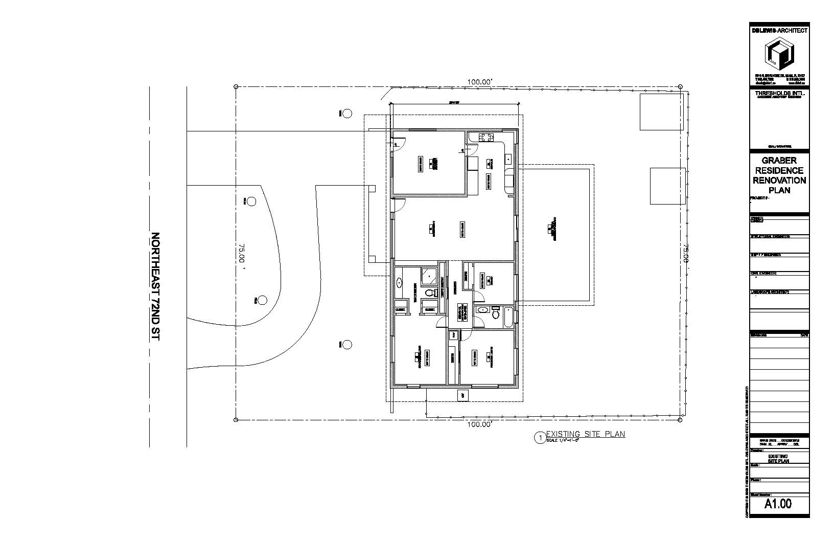 Graber Residence. Existing site plan