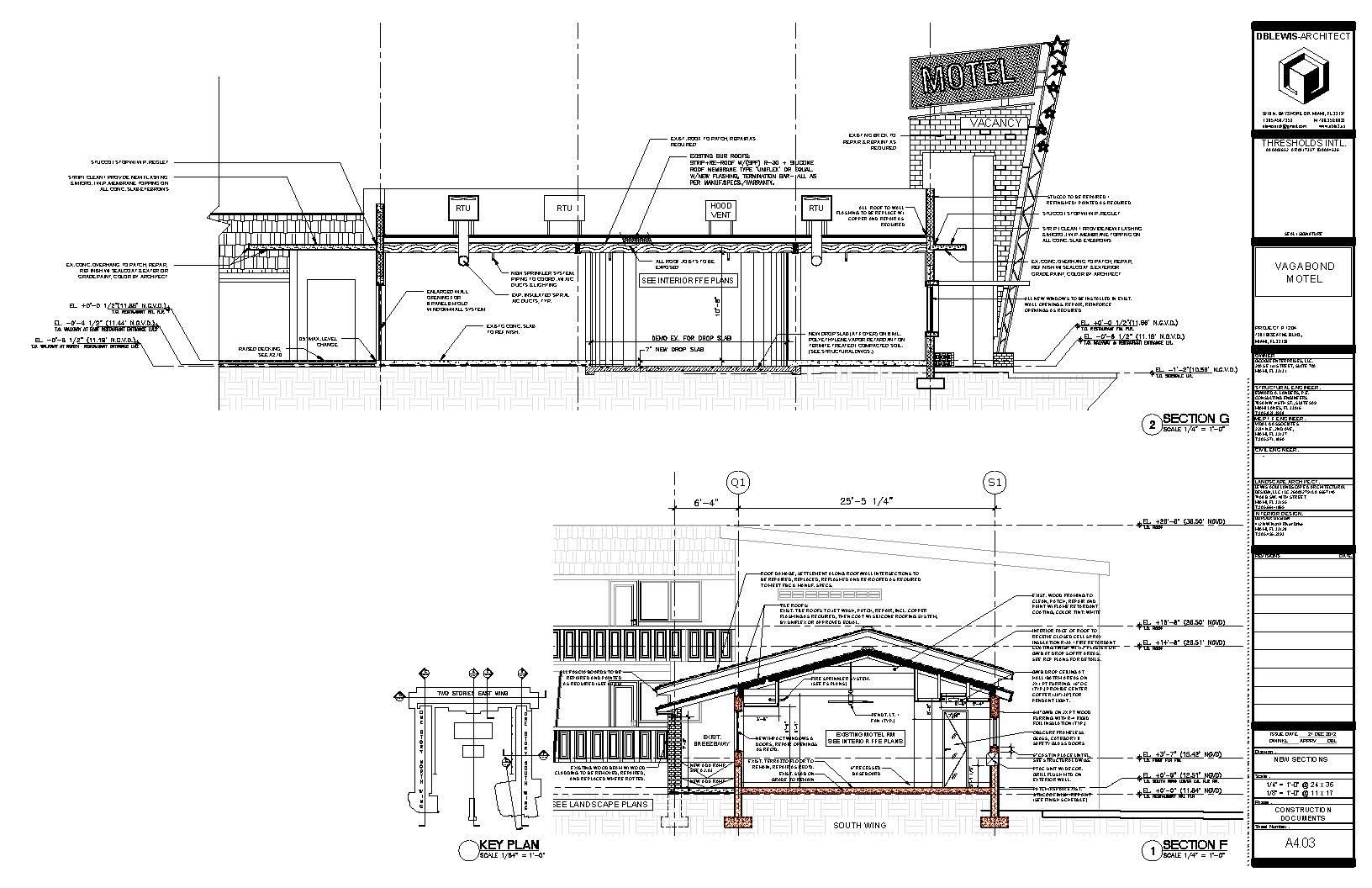 Vagabond Motel. Sections G & F