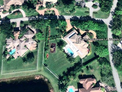 Weston Residence. Site aerial view before improvements