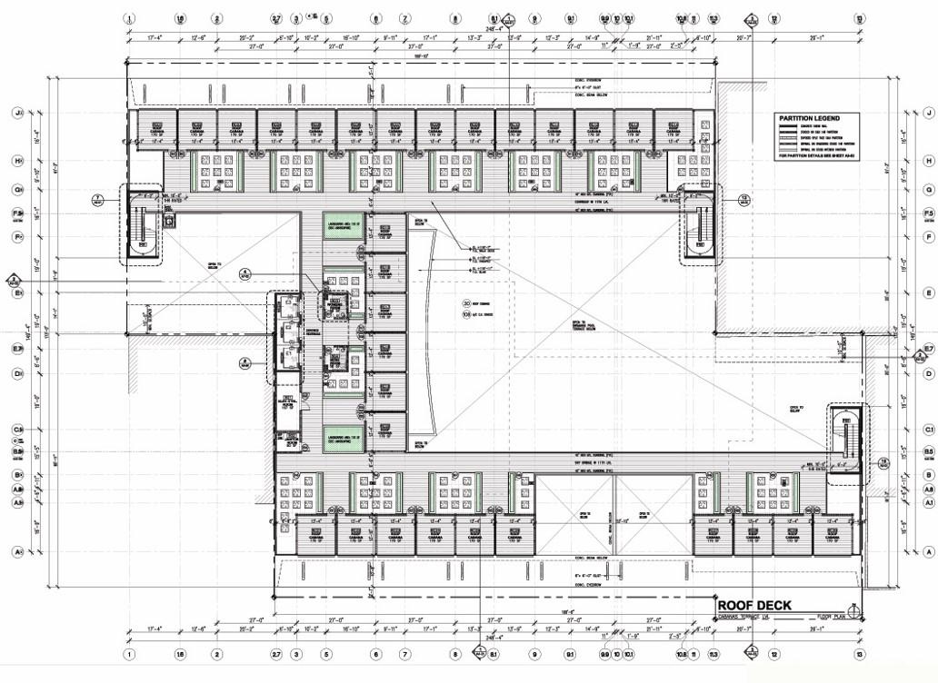 Pompeii Roof Deck Plan